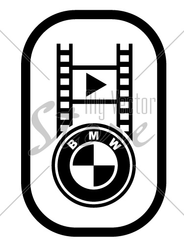 vector bmw spirit design video button