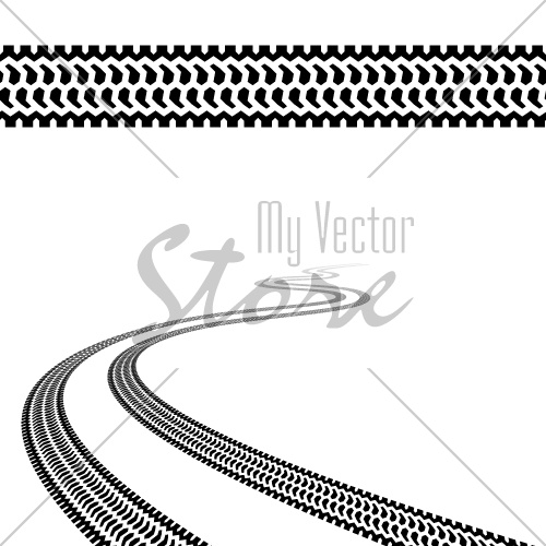 vector winding trace of the terrain tyres