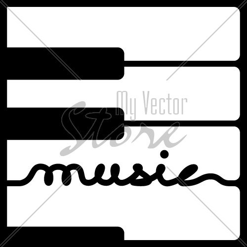 vector piano keys music calligraphy