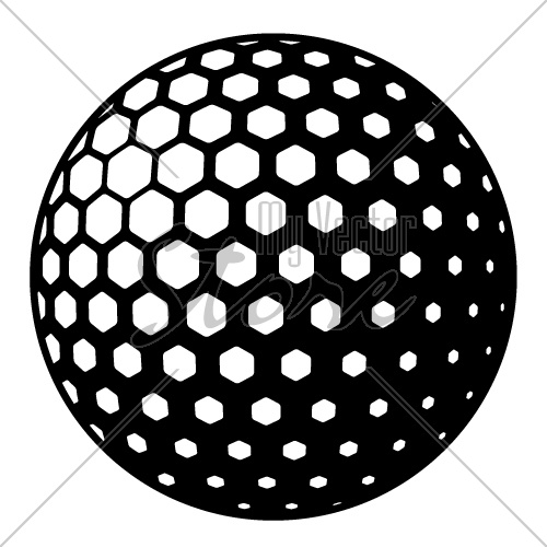 vector golf ball symbol