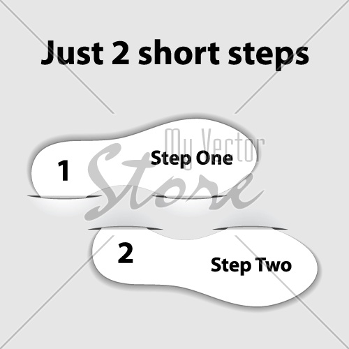 vector paper imprint short steps