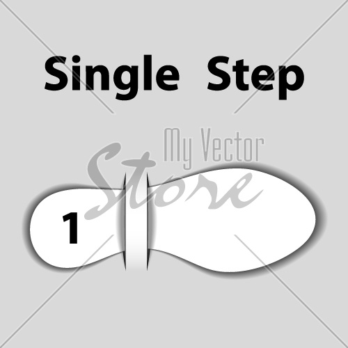 vector blank attached paper imprint step