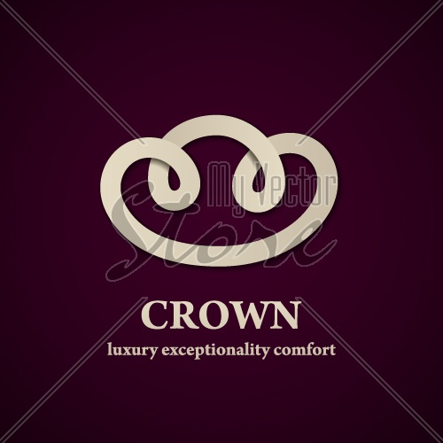 vector abstract crown symbol design template