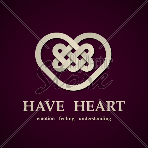 vector celtic heart symbol design template