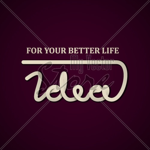 vector idea calligraphic design template