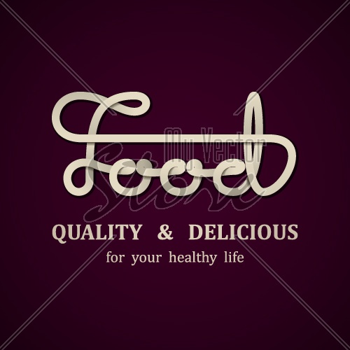 vector food calligraphic design template