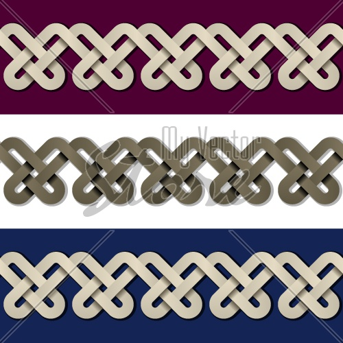 vector seamless paper knot frame background