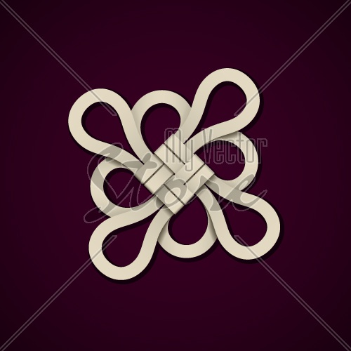 vector paper chinese knot design template