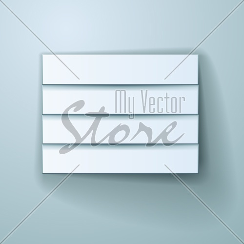 vector blank paper stickers design template