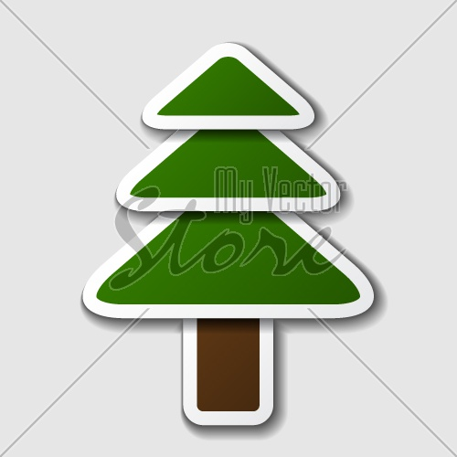 vector paper spruce tree symbol