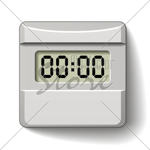 vector white plastic LCD counter