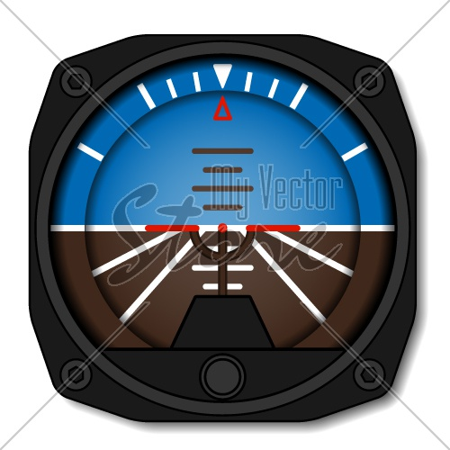 vector aviation airplane attitude indicator - artificial gyroscope horizon