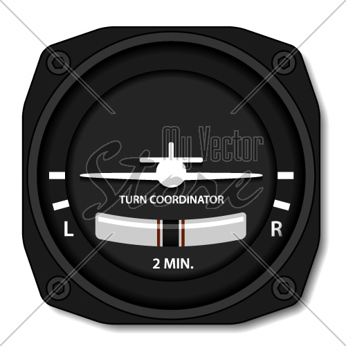 vector aviation airplane turn balance indicator