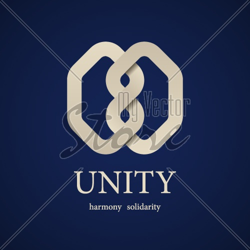 vector unity knot symbol design template