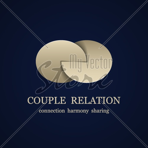 vector abstract couple relation symbol