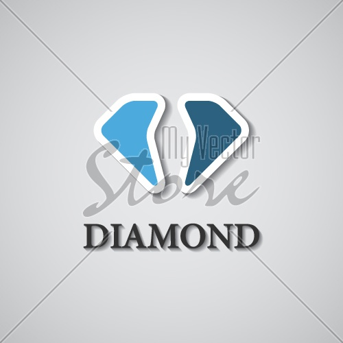 vector abstract stylized diamond icon