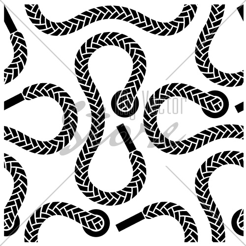 vector seamless monochrome shoelace pattern