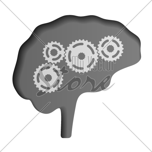 vector human brain icon