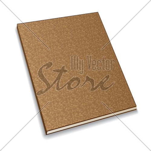 vector notebook from recycled paper