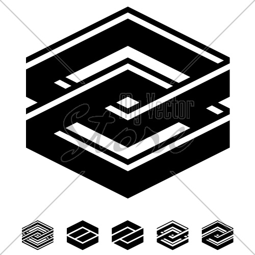 vector unity square black white symbols