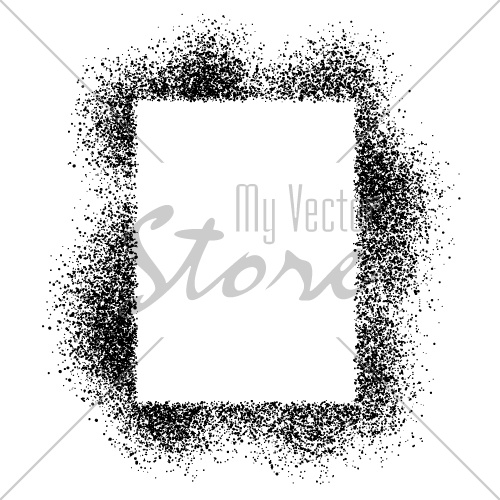 vector spray effect square frame