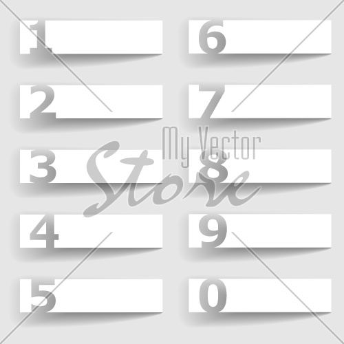 vector blank paper square number options
