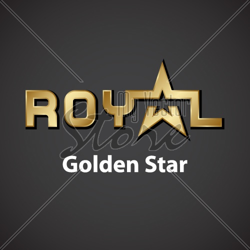 vector royal golden star inscription icon