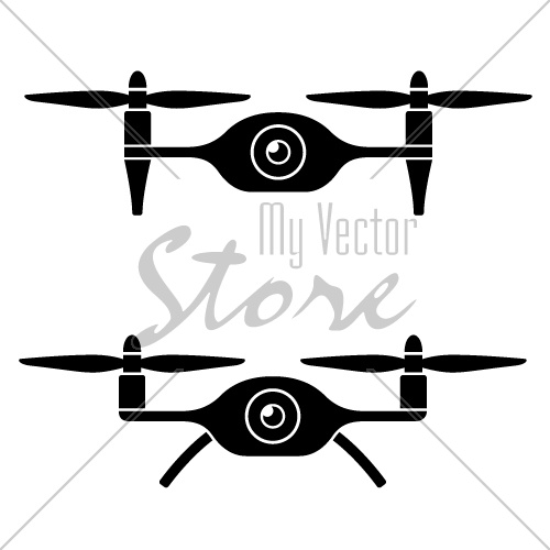 vector rc drone quadcopter with camera black symbol