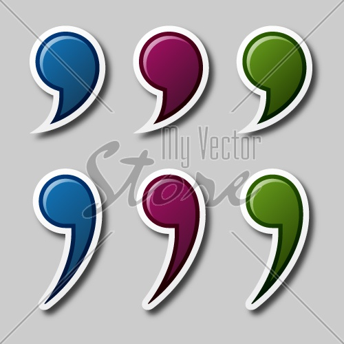 EPS10 vector color quotation marks