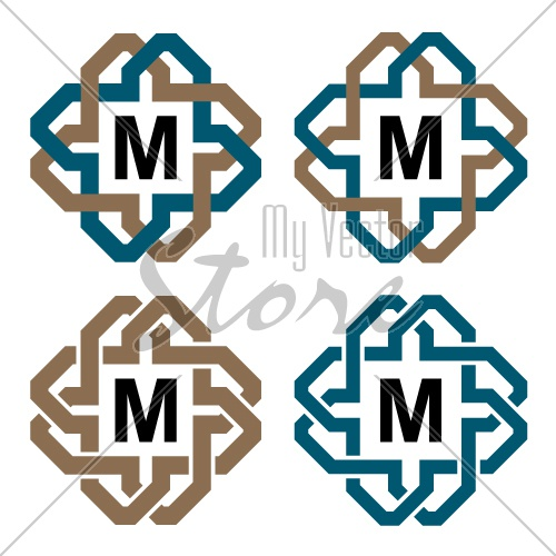 vector abstract magic knot letter eternity emblem