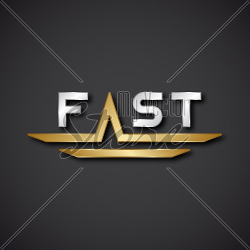 EPS10 vector FAST text icon