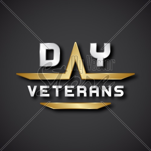 EPS10 vector veterans day text icon