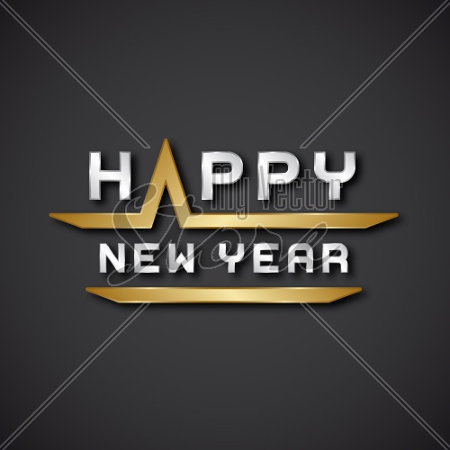 EPS10 vector happy new year text icon