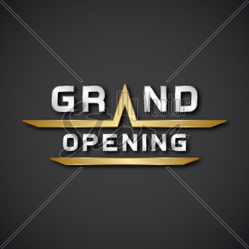 EPS10 vector grand opening text icon