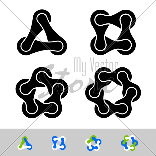 vector teamwork infinity chain icons