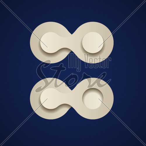 vector abstract infinite eight paper emblem
