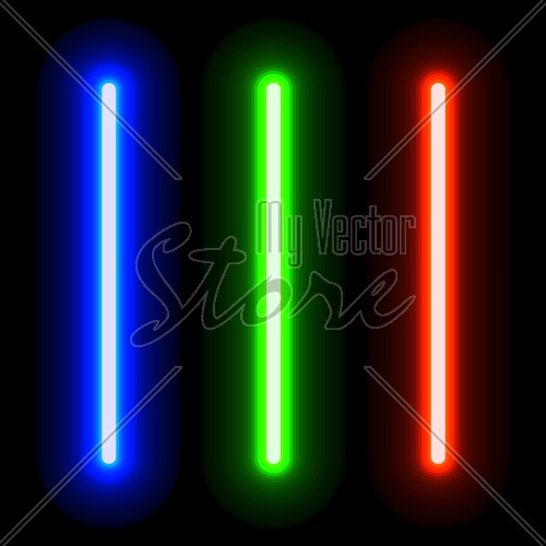 EPS10 vector glowing light swords