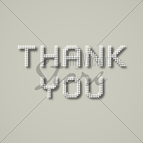 EPS10 vector thank you dotted inscription