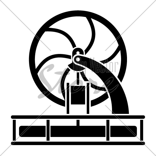 vector modern stirling engine model silhouette