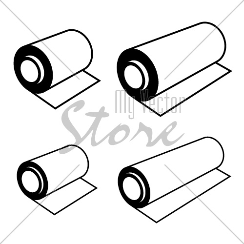 vector roll of any foil black symbols