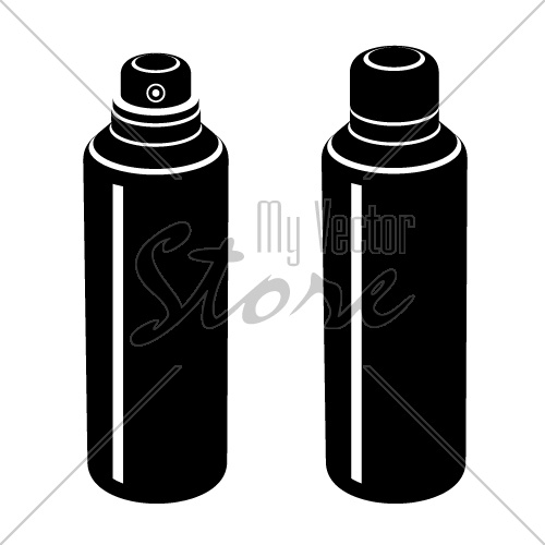 vector spray can black symbol