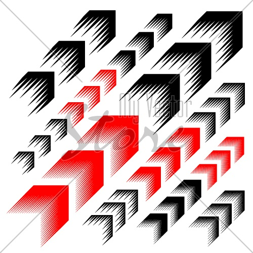 arrow motion line simple symbol vector