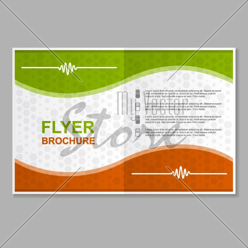flyer brochure booklet report layout template vector EPS10