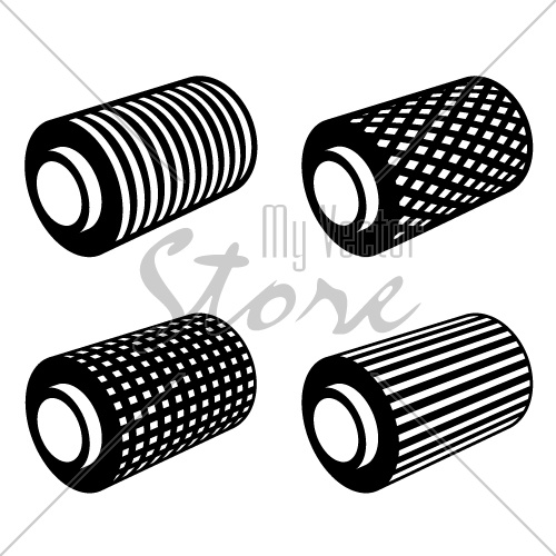 roll of anything foil thread spool vector