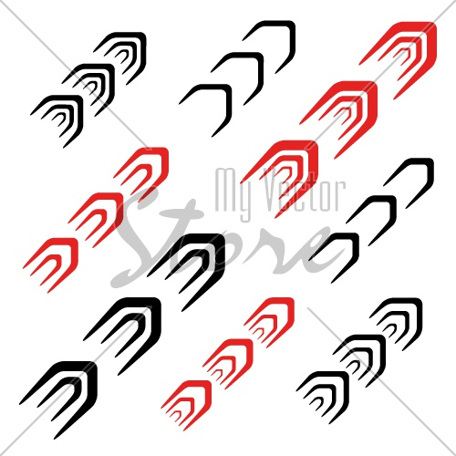 arrow decoration motion line symbol vector