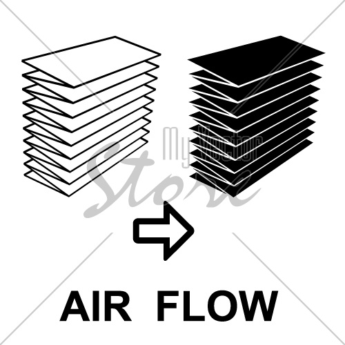air filter black symbol vector