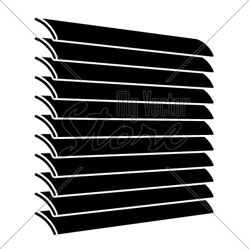 venetian blinds black symbol vector