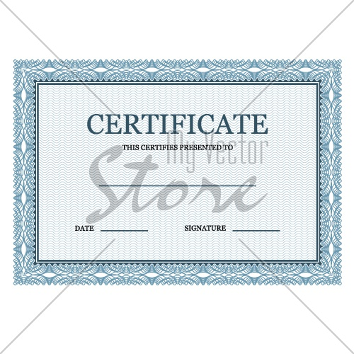 blank certificate classic decorative vector