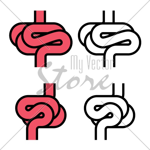 intestines simple symbol vector