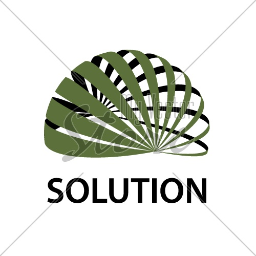 3D abstract sphere icon global solution symbol